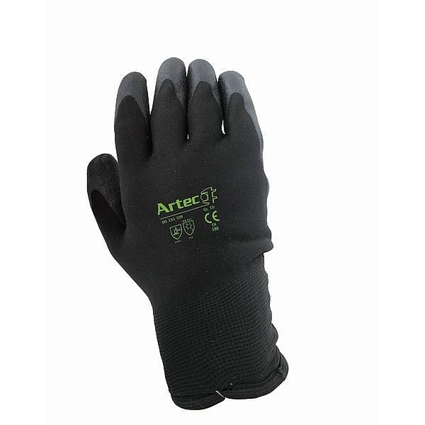 Winterstrickhandschuh von ARTEC HTP Beschichtung, Farbe: schwarz Größe 10