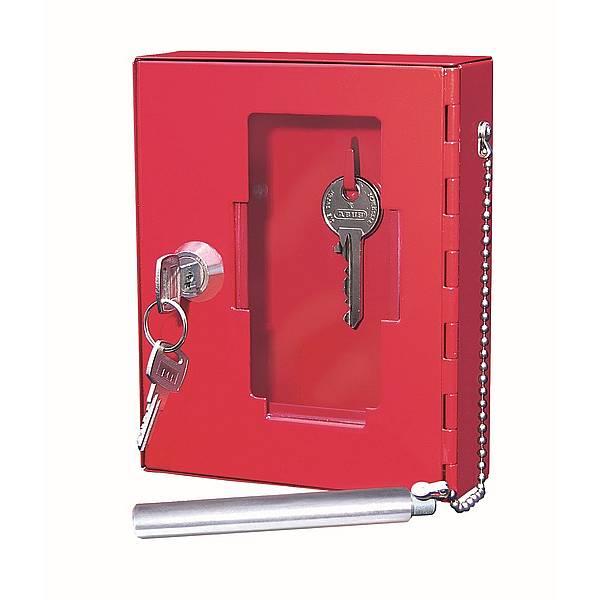 WEDO Notschlüsselkasten aus stabilem Stahlblech mit Glasscheibe 120x150mm
