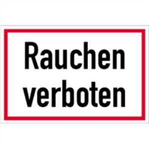 schild rauchen verboten 20 x 30cm pvc ebay. Black Bedroom Furniture Sets. Home Design Ideas