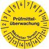 Prüfmittelüberwachung Jahre 12-17, Monate 1-12 30mmØ Dokumentenfolie gelb 100St.