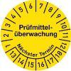 Prüfmittelüberwachung Jahre 13-18, Monate 1-12 30mmØ Dokumentenfolie gelb 100St.