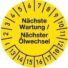 Nächste Wartung / Ölwechsel Jahre 13-18 Monate 1-12 30mm Ø gelb schwarz 100St.