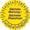 Nächste Wartung / Ölwechsel Jahre 14-19 Monate 1-12 30mm Ø gelb schwarz 100St.