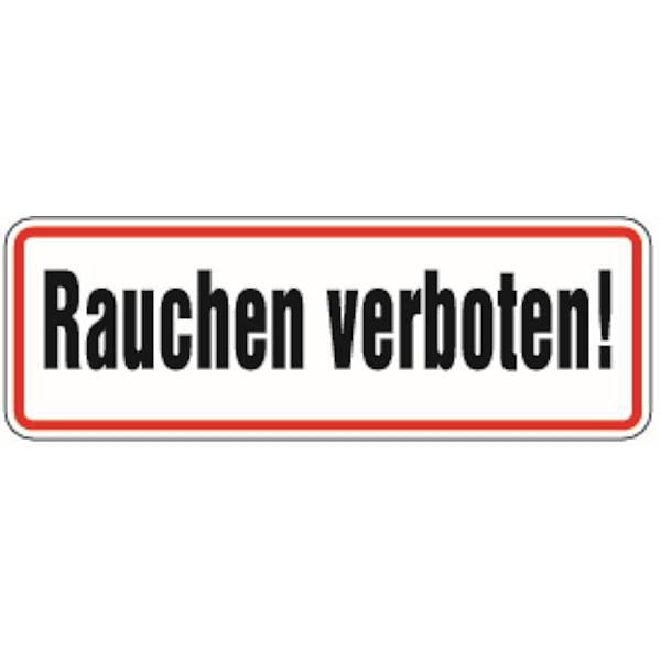 1 selbstklebender PVC Aufkleber 300 mm 30 cm Rauchen verboten