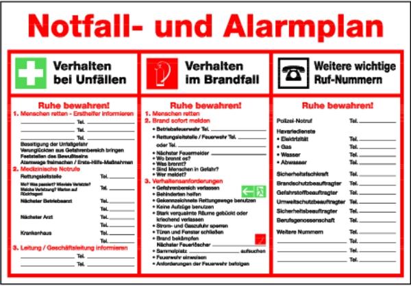 Aushang Notfall Und Alarmplan Notfall Und 10