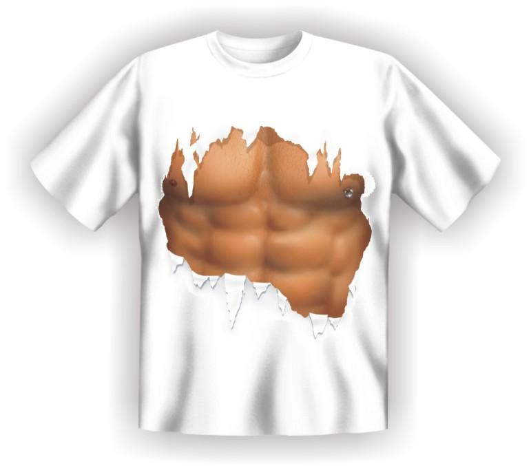 T-Shirt Rahmenlos Waschbrettbauch Oberkörper Männer 1367